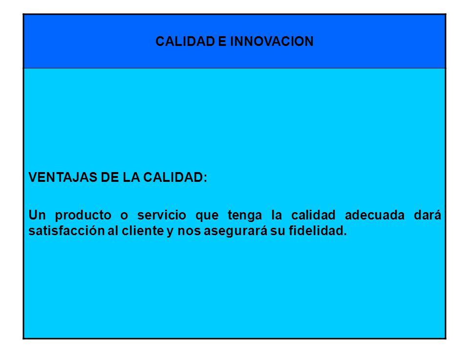 VENTAJAS DE LA CALIDAD: