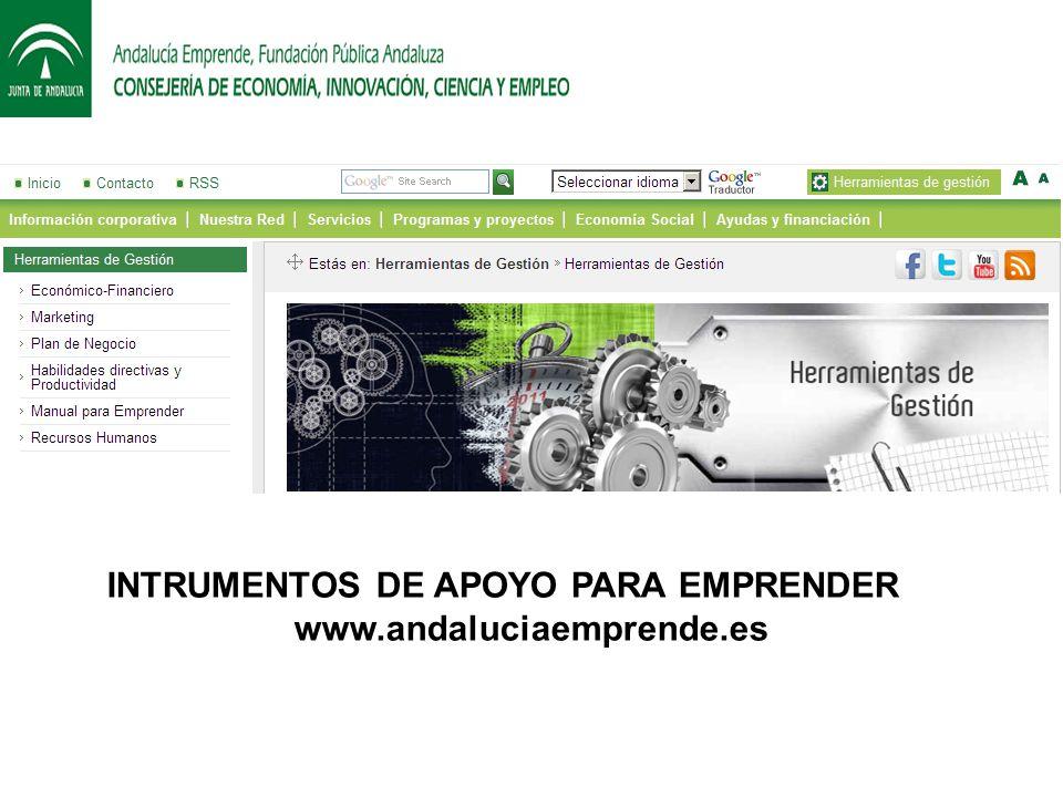 INTRUMENTOS DE APOYO PARA EMPRENDER