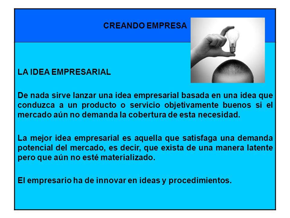 El empresario ha de innovar en ideas y procedimientos.