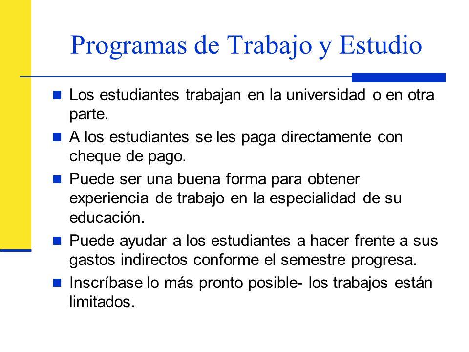Programas de Trabajo y Estudio