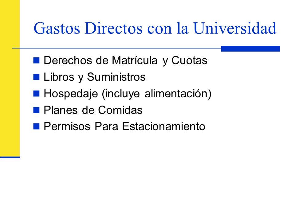 Gastos Directos con la Universidad