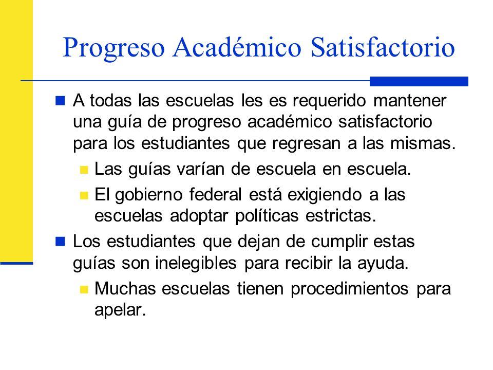 Progreso Académico Satisfactorio