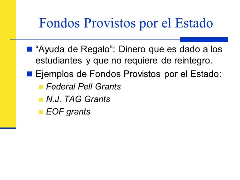 Fondos Provistos por el Estado