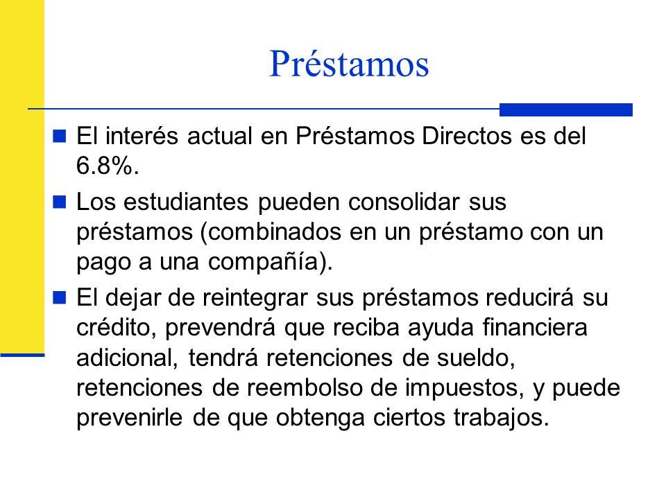 Préstamos El interés actual en Préstamos Directos es del 6.8%.