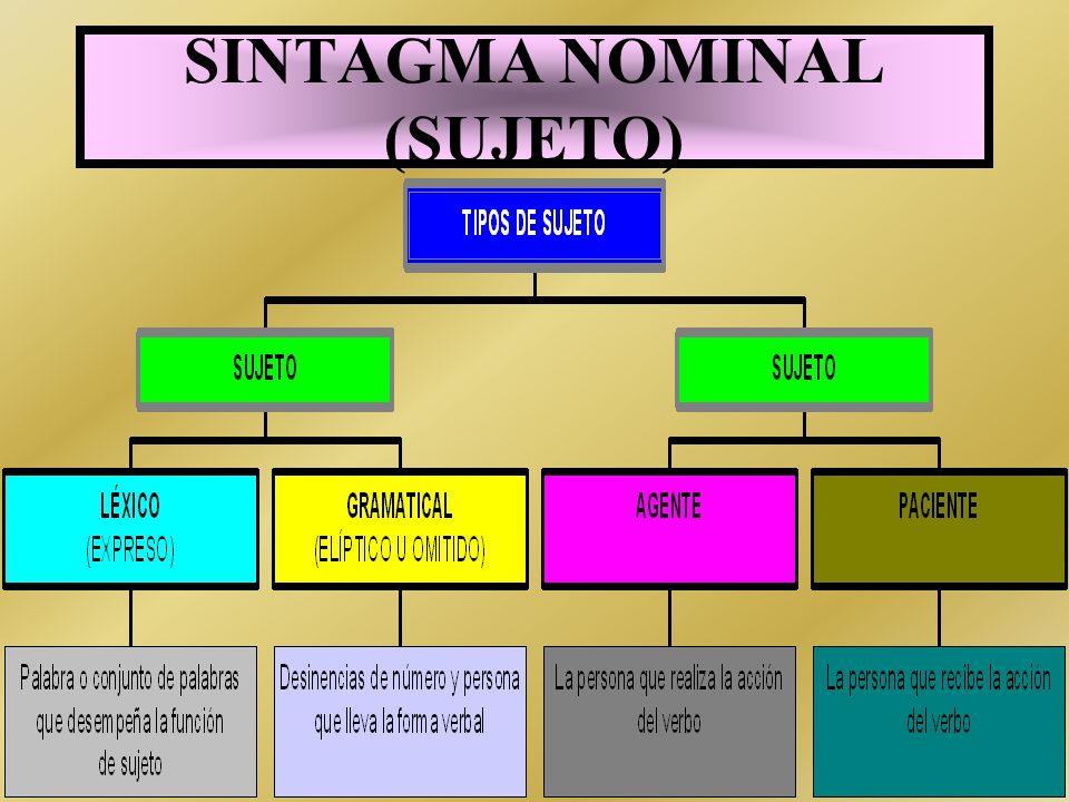SINTAGMA NOMINAL (SUJETO)
