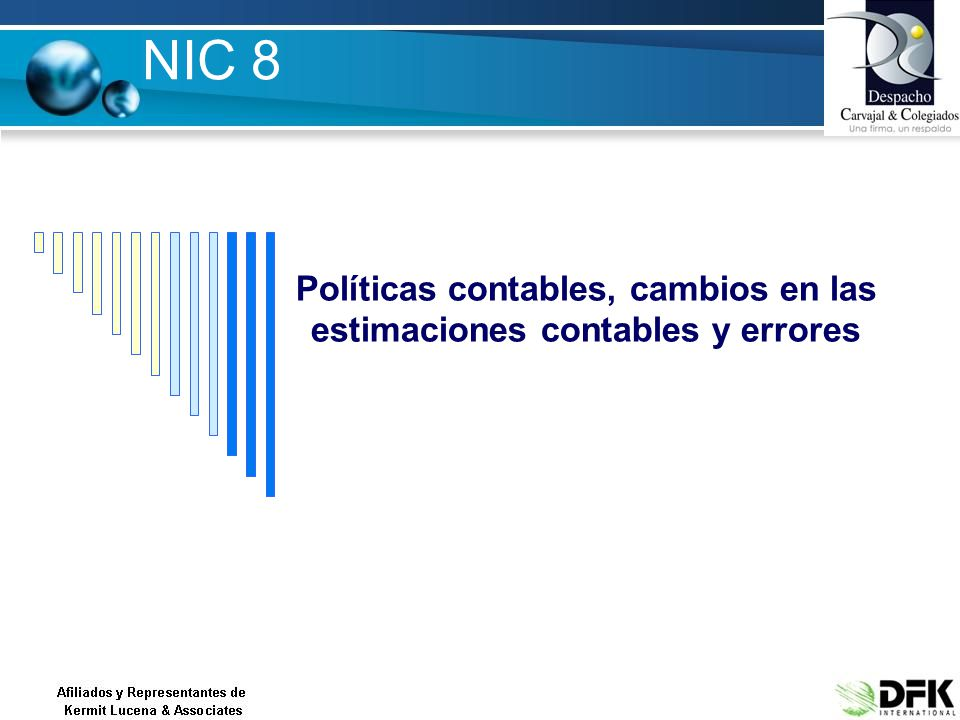 Políticas contables, cambios en las estimaciones contables y errores