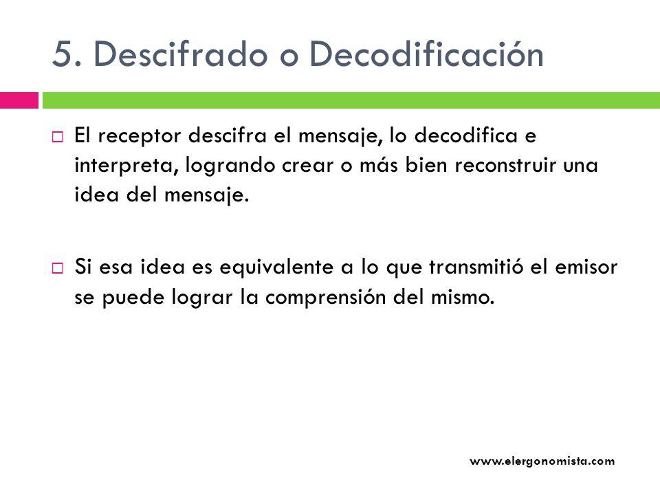 5. Descifrado o Decodificación