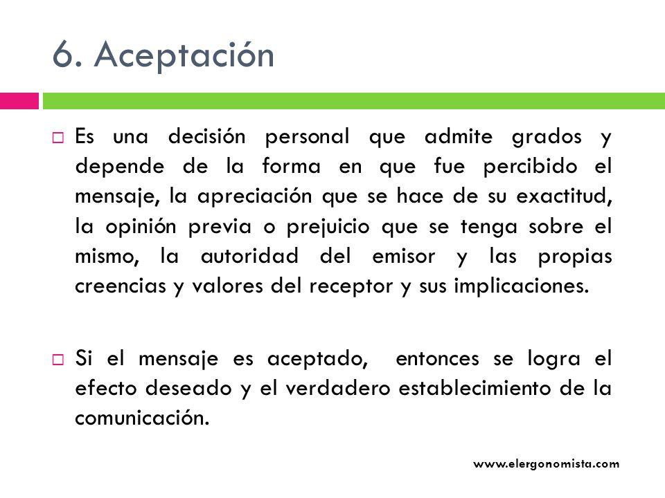 6. Aceptación