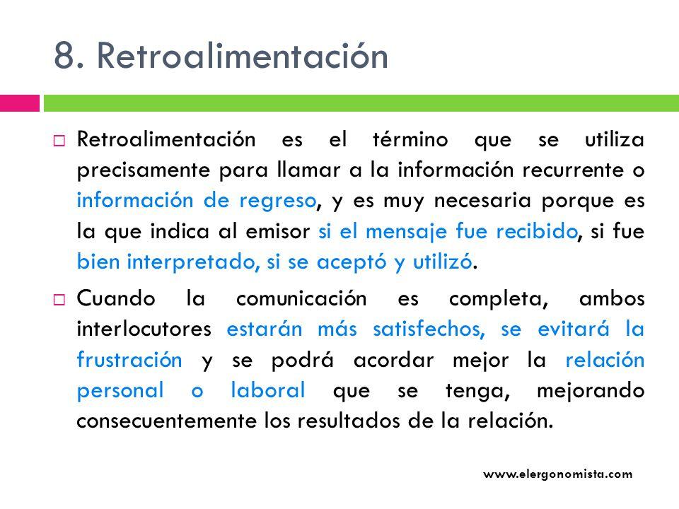 8. Retroalimentación
