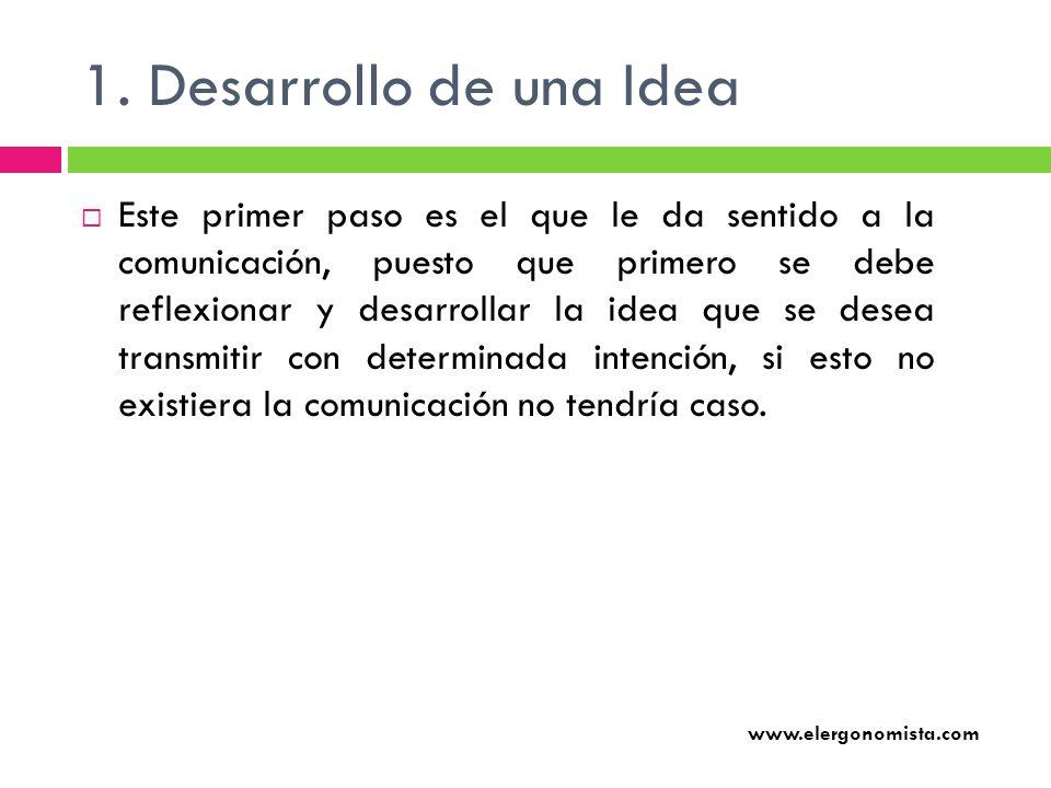 1. Desarrollo de una Idea
