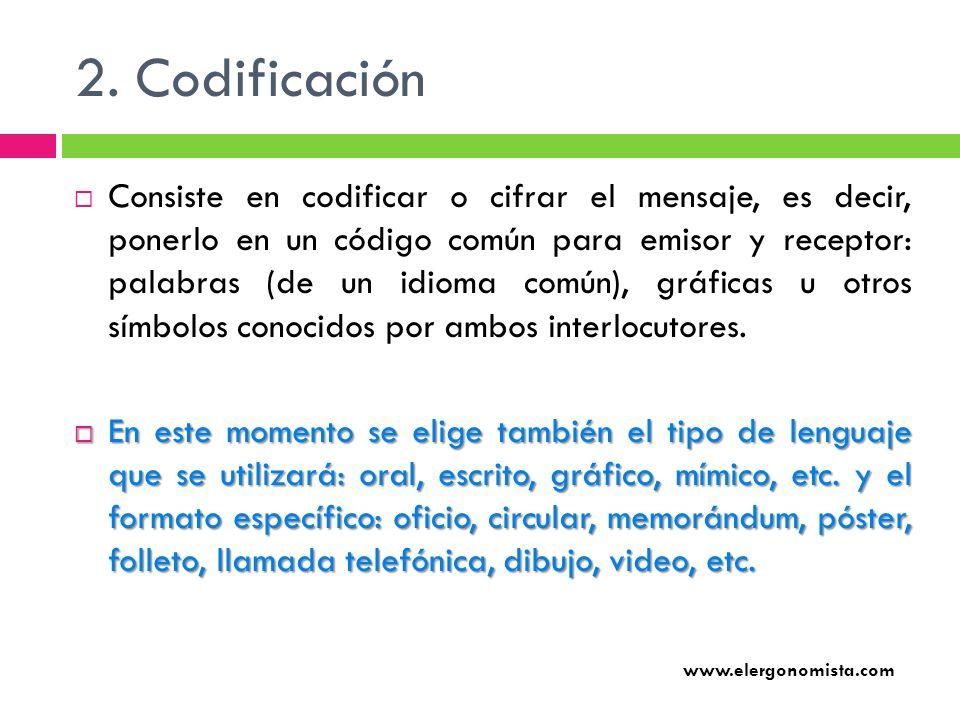2. Codificación
