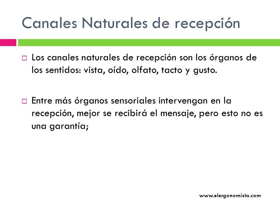 Canales Naturales de recepción