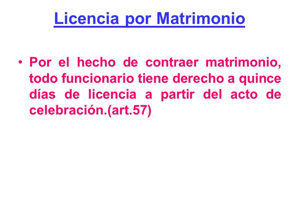 Licencia por Matrimonio