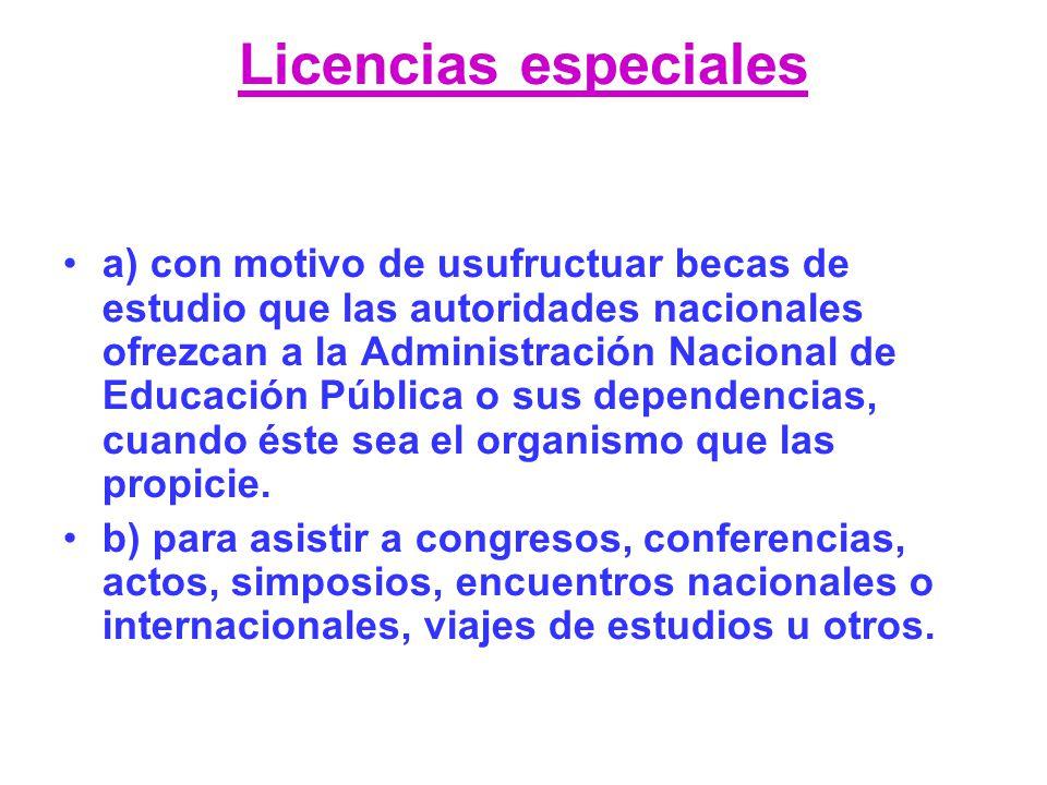 Licencias especiales