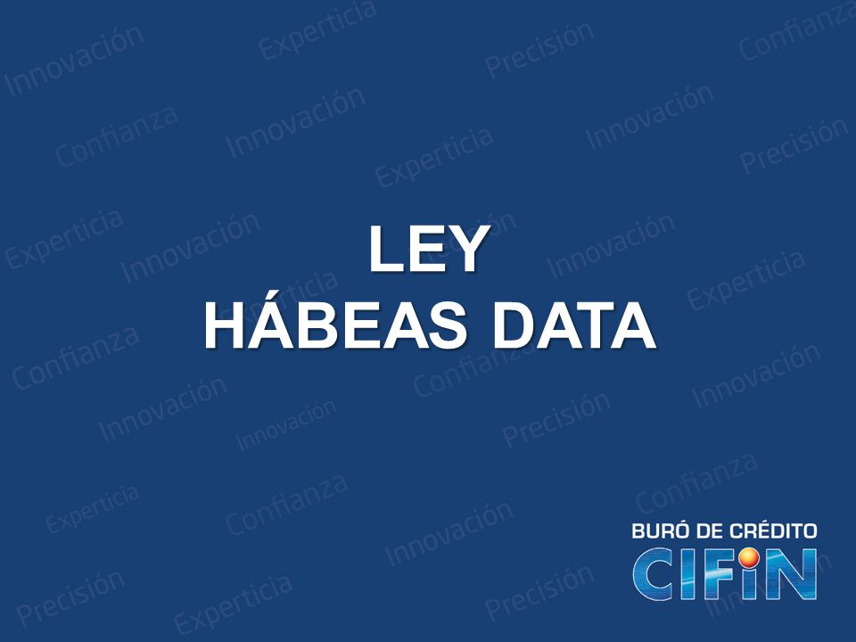 LEY HÁBEAS DATA