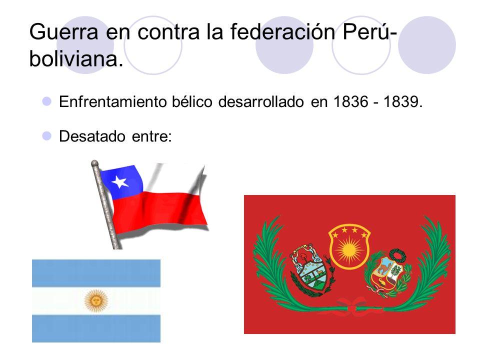 Guerra en contra la federación Perú-boliviana.