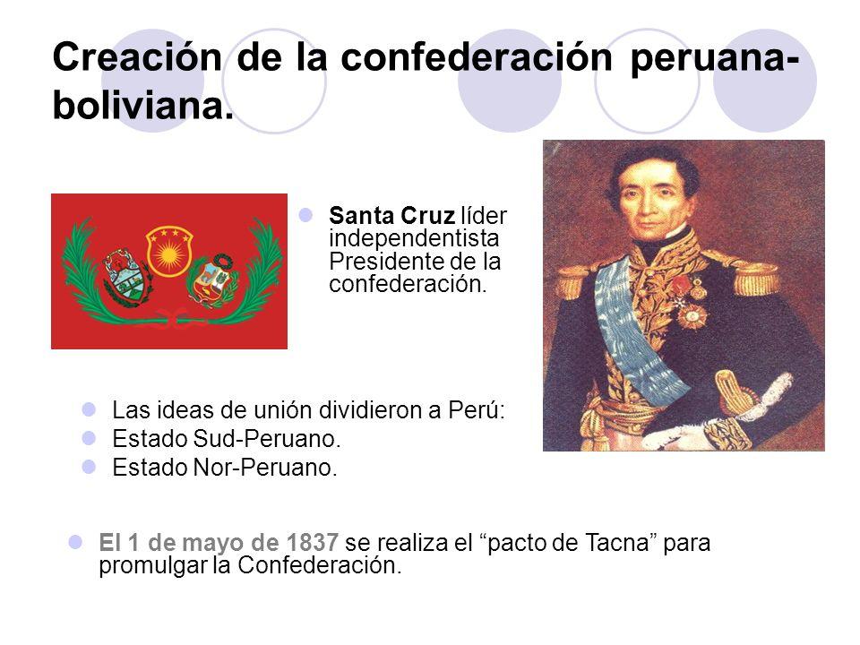 Creación de la confederación peruana-boliviana.