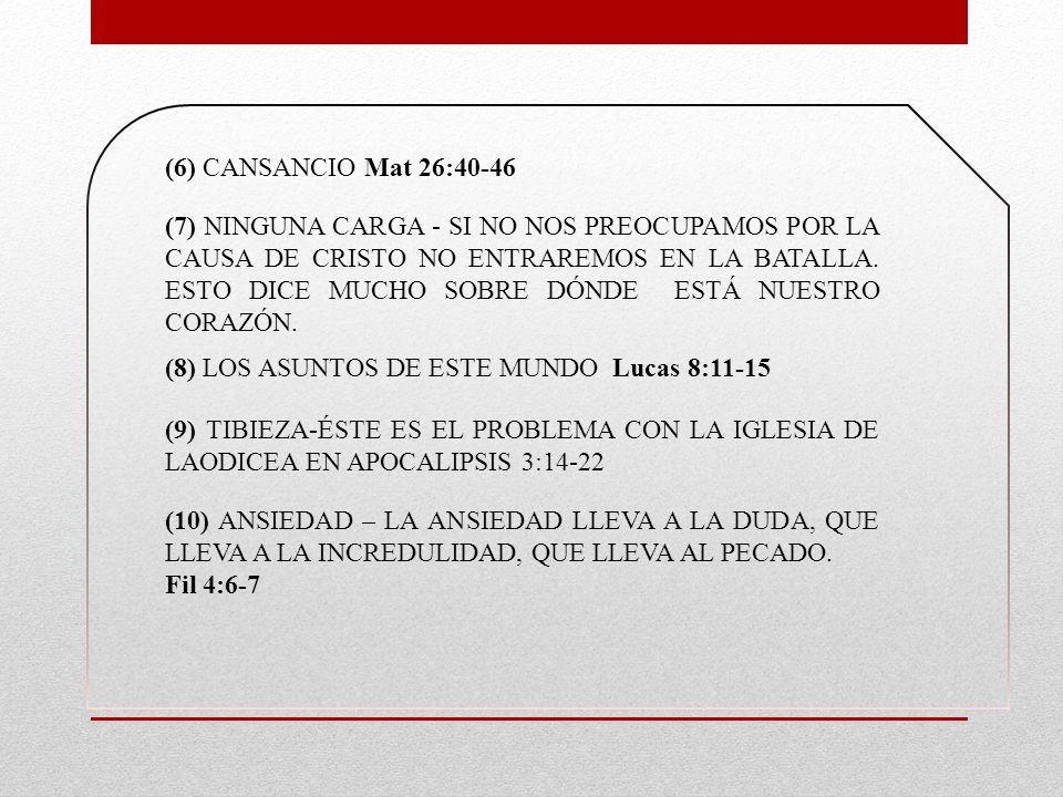 (6) CANSANCIO Mat 26:40-46