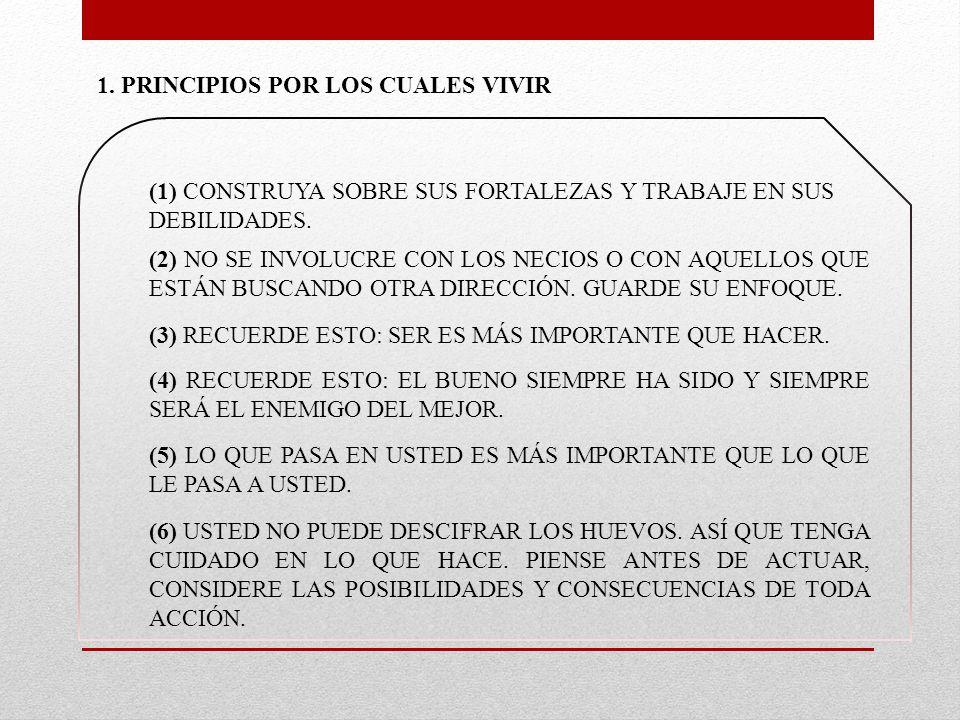 1. PRINCIPIOS POR LOS CUALES VIVIR