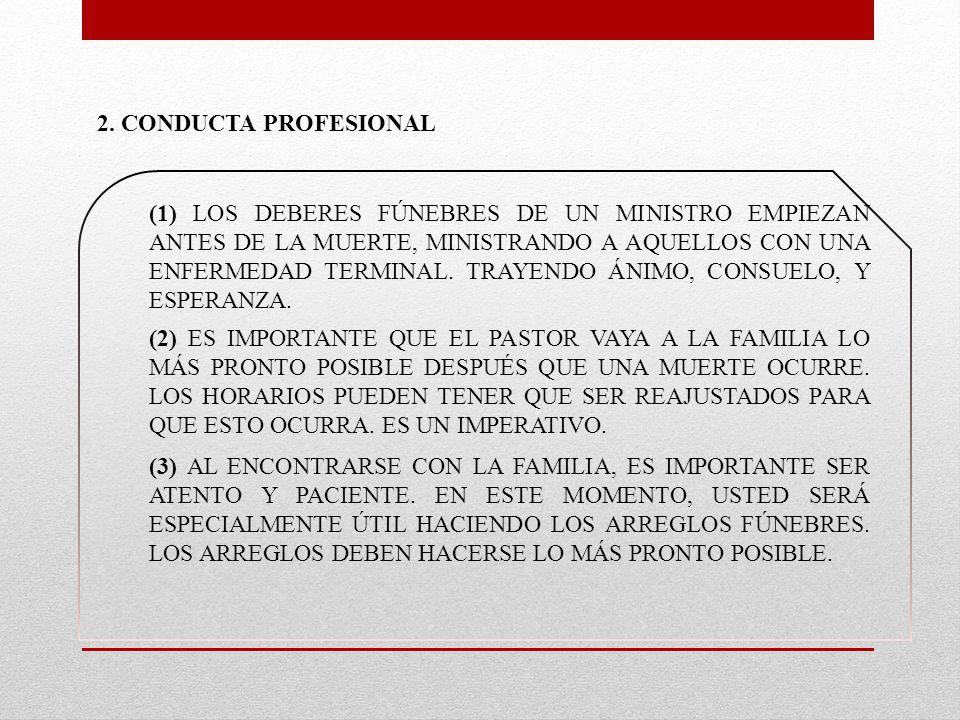 2. CONDUCTA PROFESIONAL