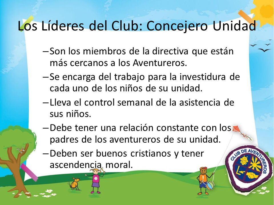 Los Líderes del Club: Concejero Unidad