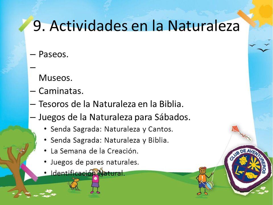 9. Actividades en la Naturaleza