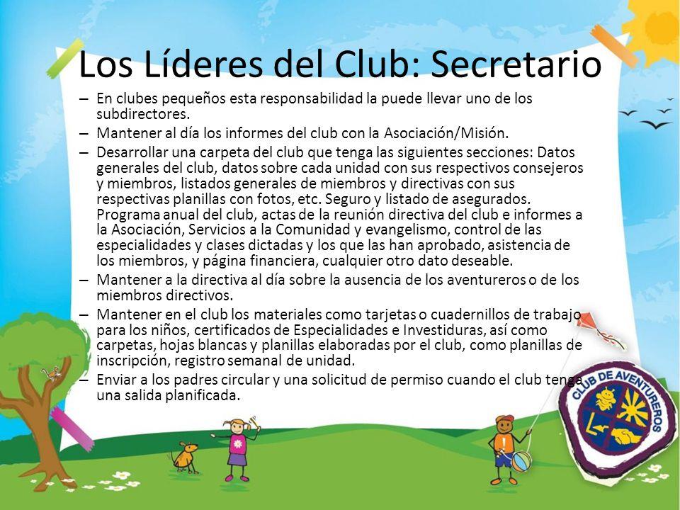 Los Líderes del Club: Secretario