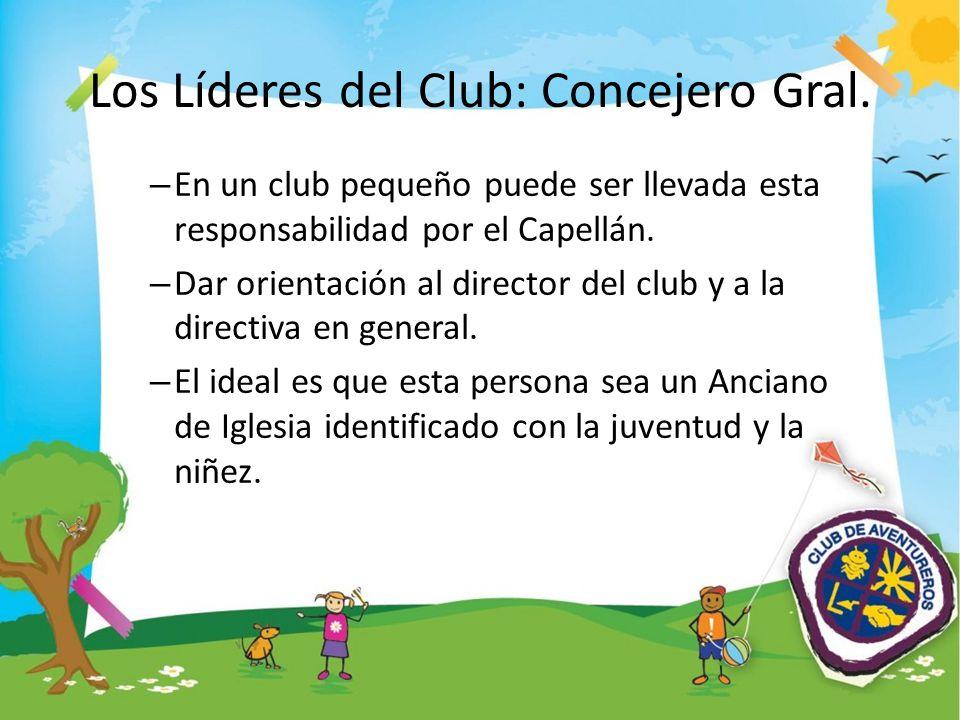 Los Líderes del Club: Concejero Gral.