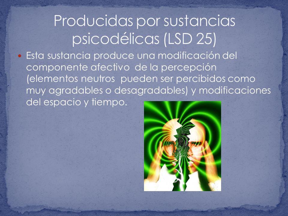 Producidas por sustancias psicodélicas (LSD 25)