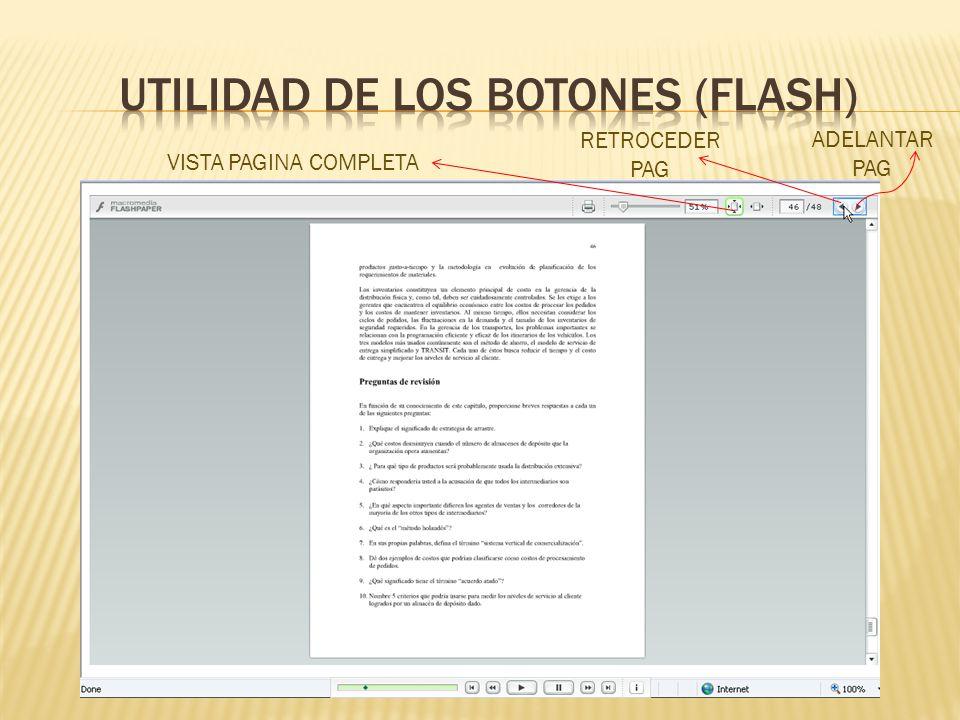 UTILIDAD DE LOS BOTONES (flash)