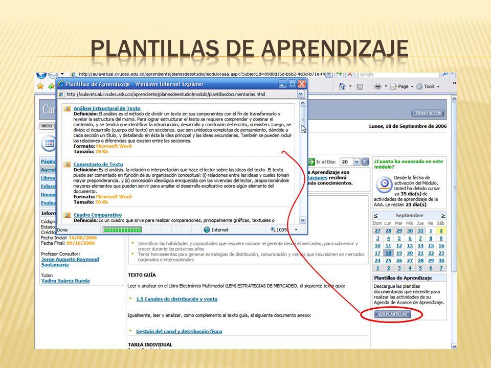 PLANTILLAS DE APRENDIZAJE
