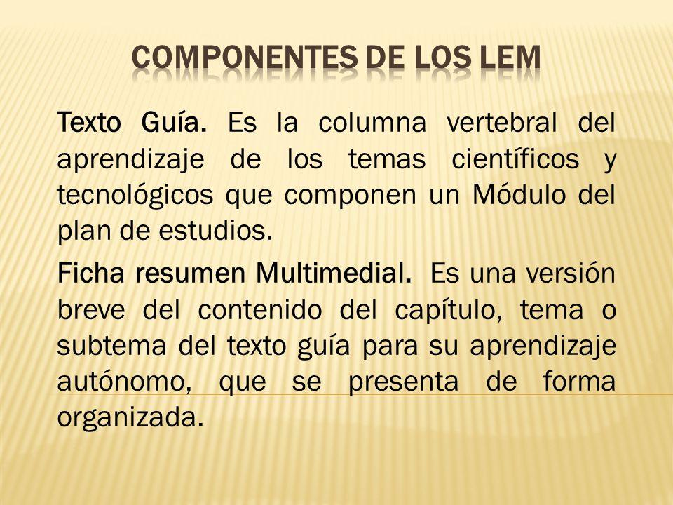 COMPONENTES DE LOS LEM