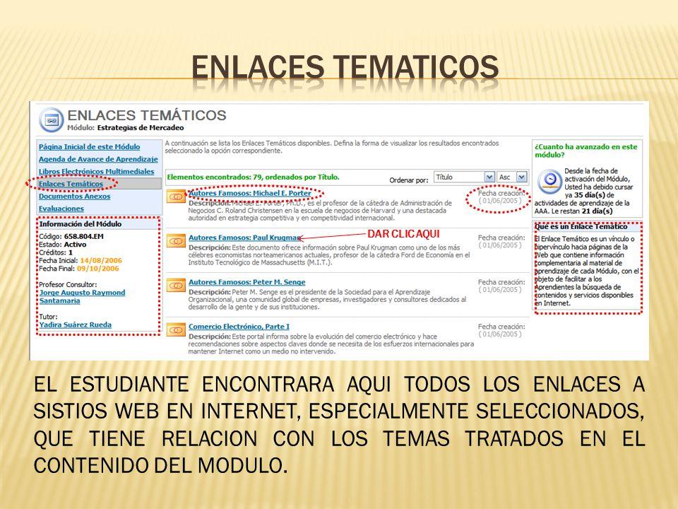 ENLACES TEMATICOS DAR CLIC AQUI.