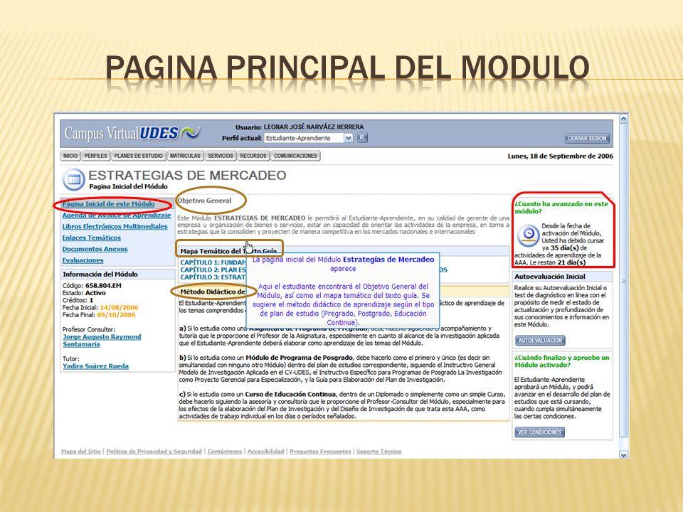 PAGINA PRINCIPAL DEL MODULO