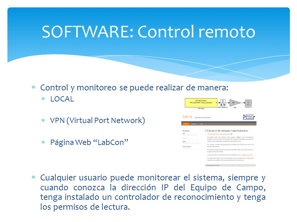 SOFTWARE: Control remoto
