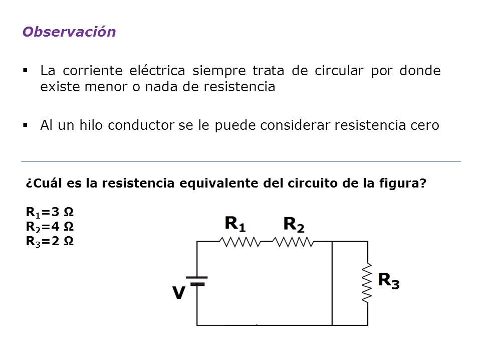 Al un hilo conductor se le puede considerar resistencia cero