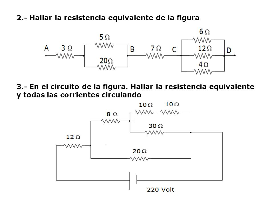 2. - Hallar la resistencia equivalente de la figura 3