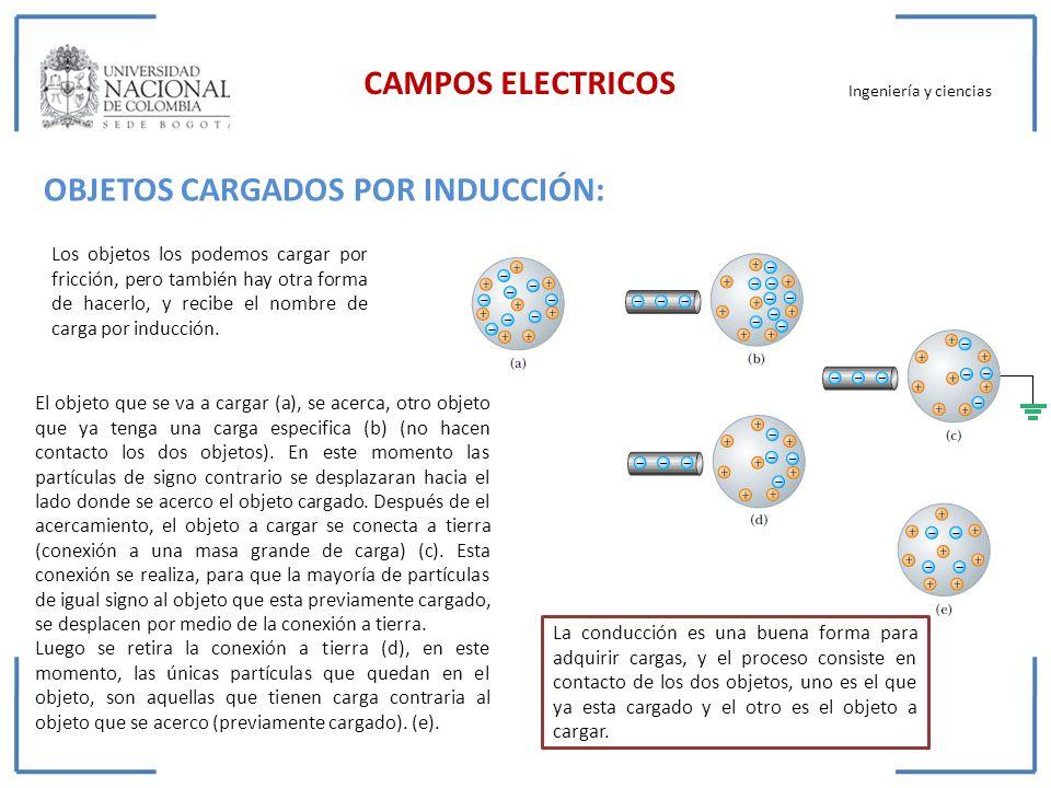 OBJETOS CARGADOS POR INDUCCIÓN: