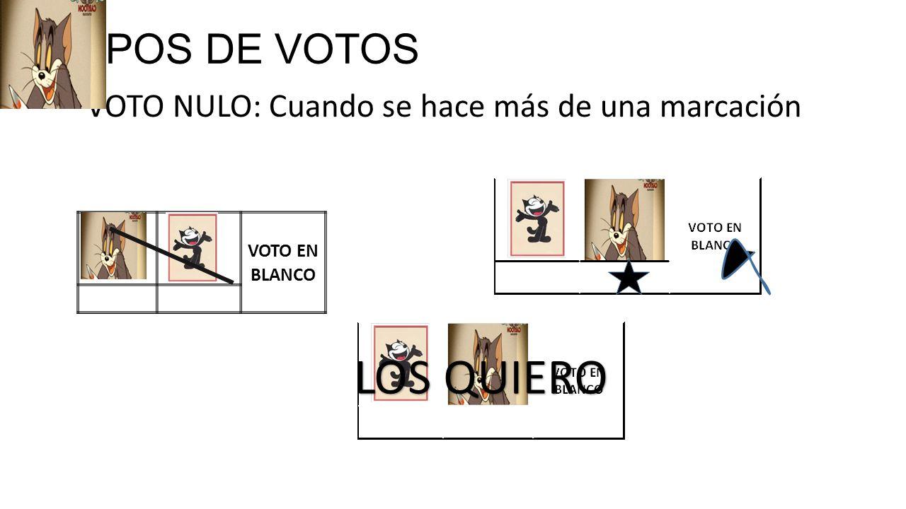 LOS QUIERO TIPOS DE VOTOS