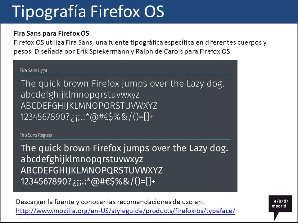 Tipografía Firefox OS Fira Sans para Firefox OS