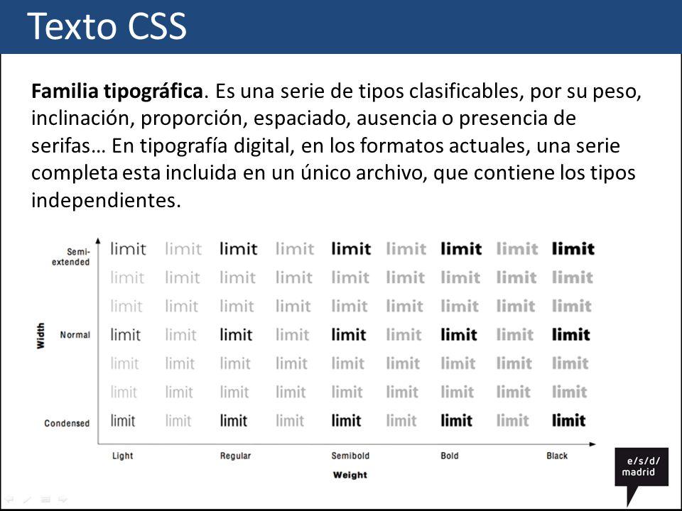 Texto CSS