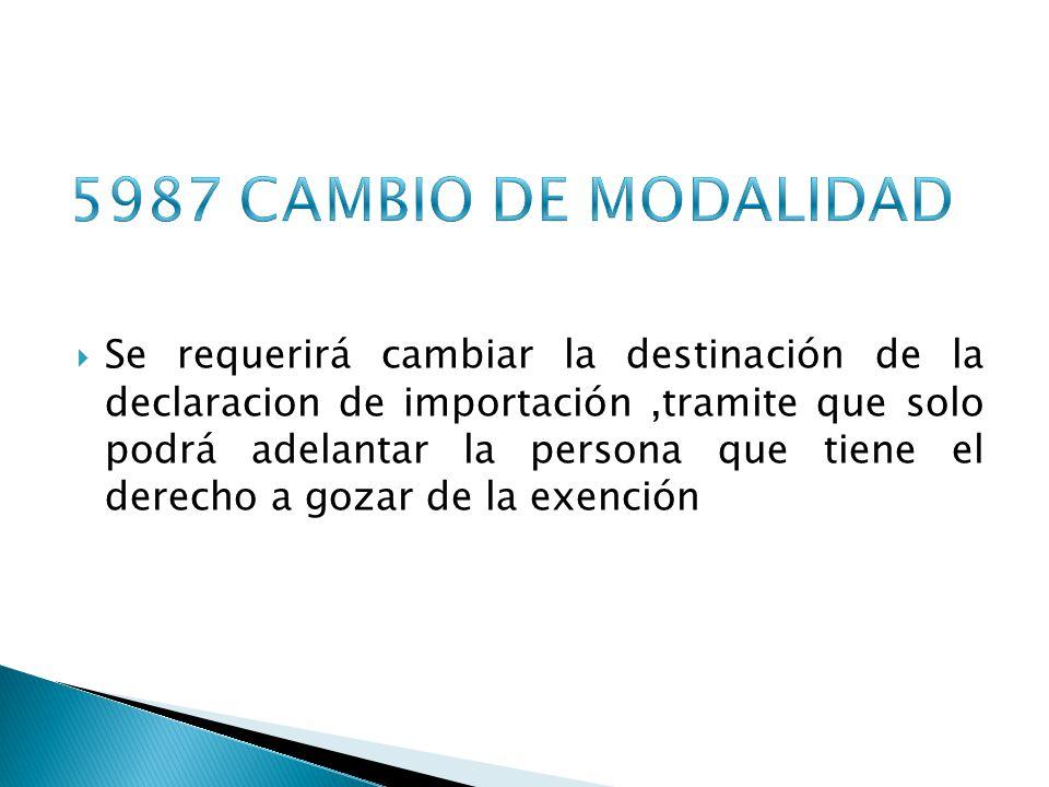 5987 CAMBIO DE MODALIDAD
