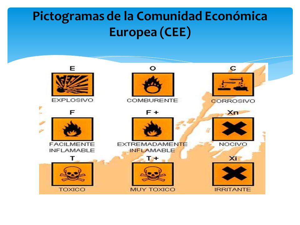 Pictogramas de la Comunidad Económica Europea (CEE)