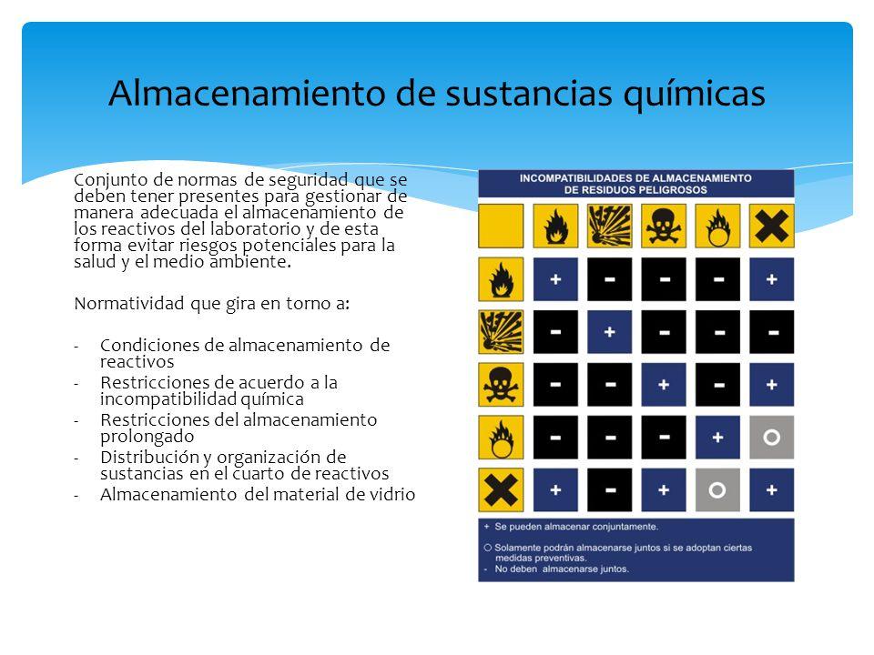 Almacenamiento de sustancias químicas