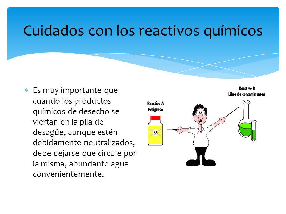Cuidados con los reactivos químicos