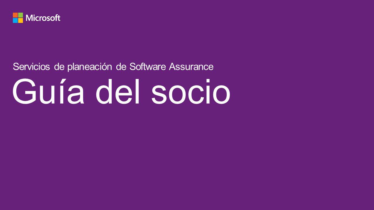 Guía del socio Servicios de planeación de Software Assurance 4/9/2017