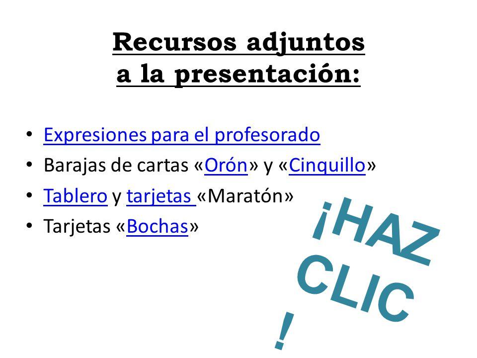 Recursos adjuntos a la presentación: