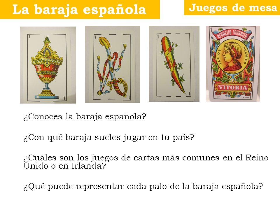 La baraja española Juegos de mesa