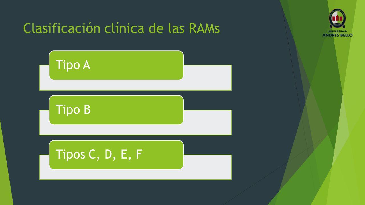 Clasificación clínica de las RAMs