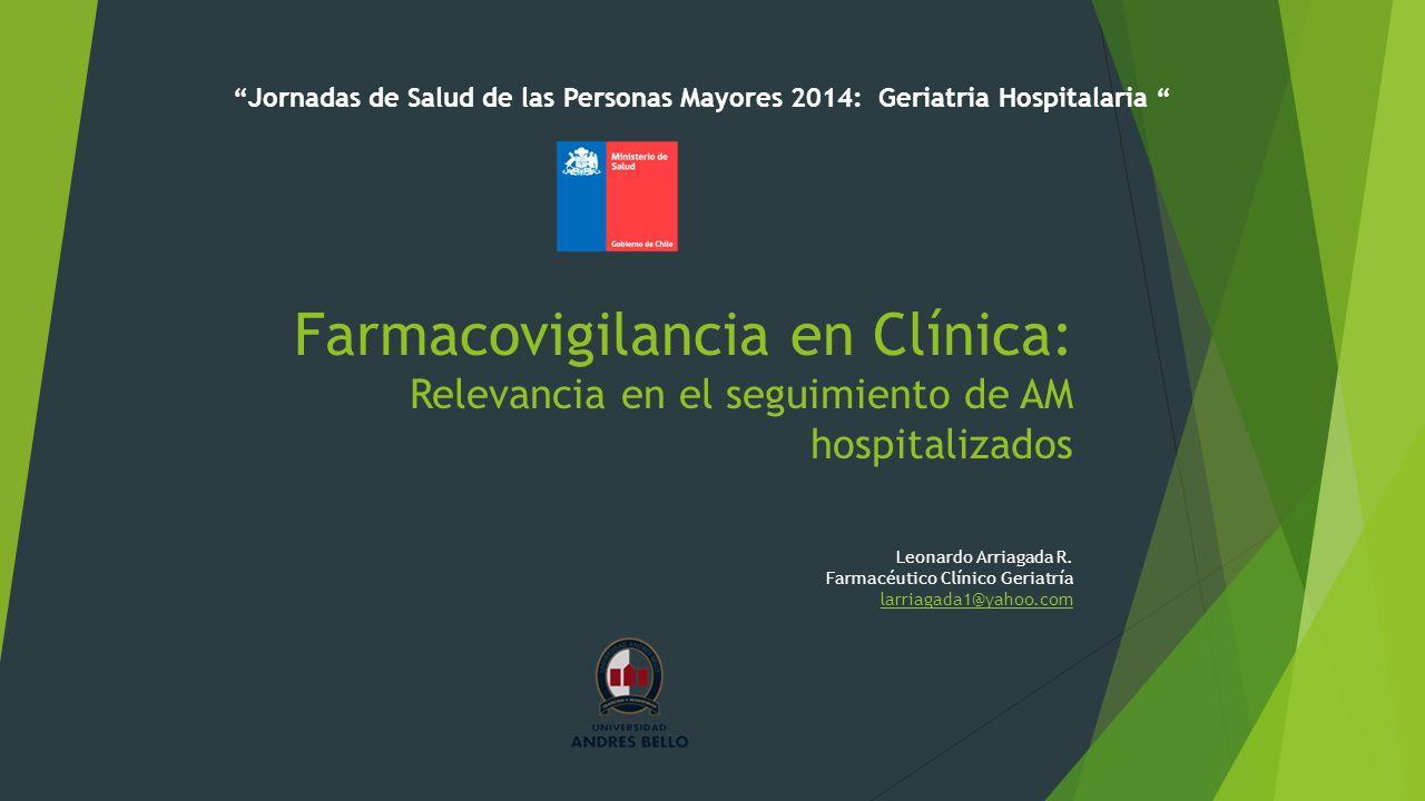 Jornadas de Salud de las Personas Mayores 2014: Geriatria Hospitalaria